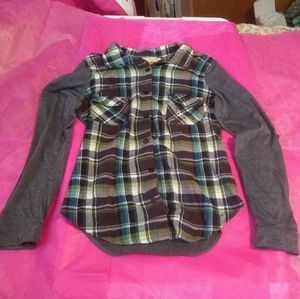 EUC Crafty Couture Flannel Shirt - Size M